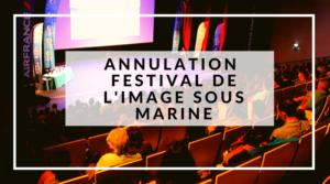 Annulation du Festival de l'Image Sous Marine 2020